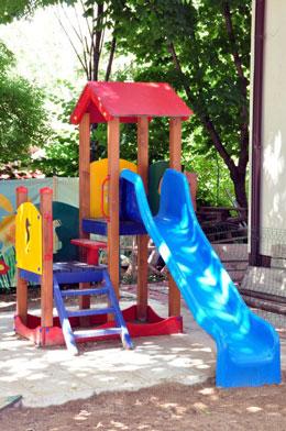 детска градина пързалка
